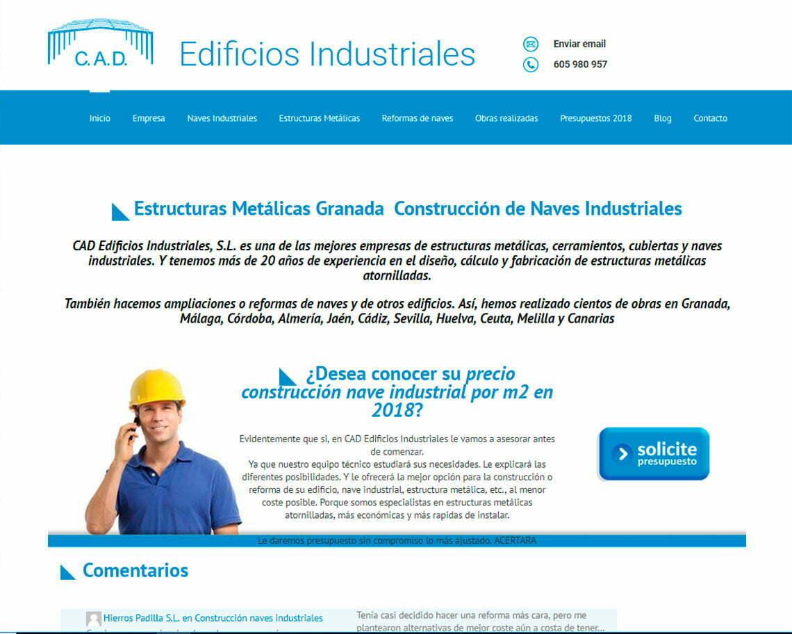 Estructuras metálicas Granada, CAD Edificios Industriales S.L.