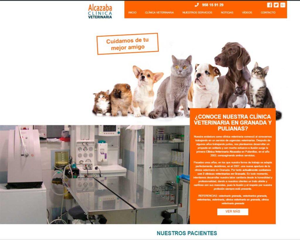 Diseño web Clínica veterinaria Alcazaba