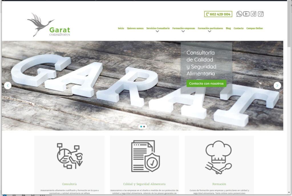 Diseño web Granada Garat Consultores