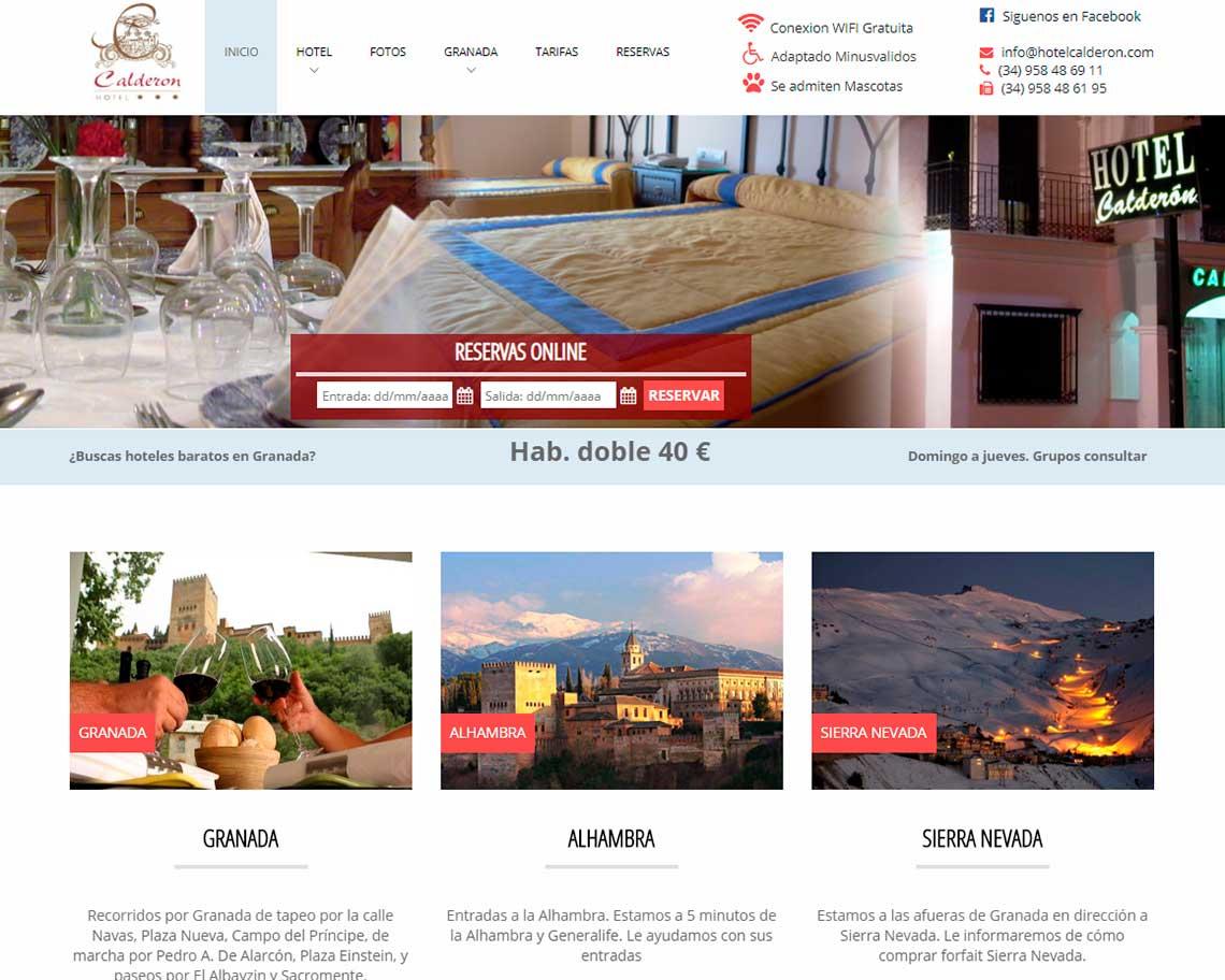 diseño de paginas web para hoteles granada