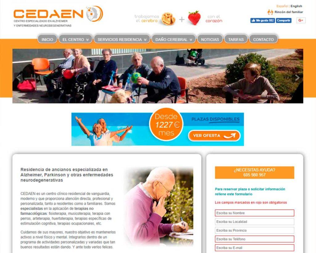Diseño Paginas Web residencias. CEDAEN