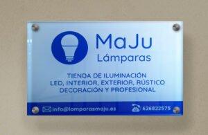 Diseño de placa comercial Lámparas MaJu