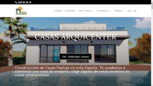 Diseño web profesional – Casas Arquicenter