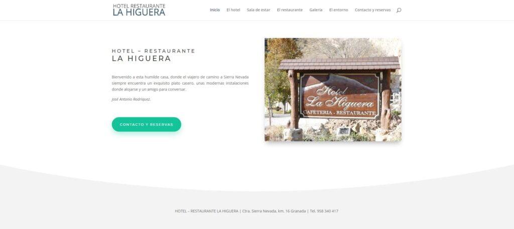 Web Básica Hotel la Higuera