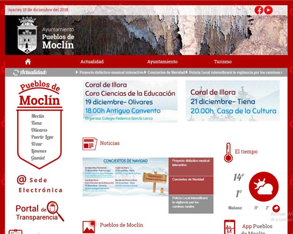 Pagina Web Ayuntamiento moclin
