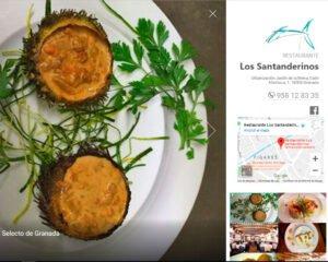Pagina Web Restaurante Los Santanderinos Granada