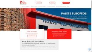 Diseño web profesional Palets del Poniente