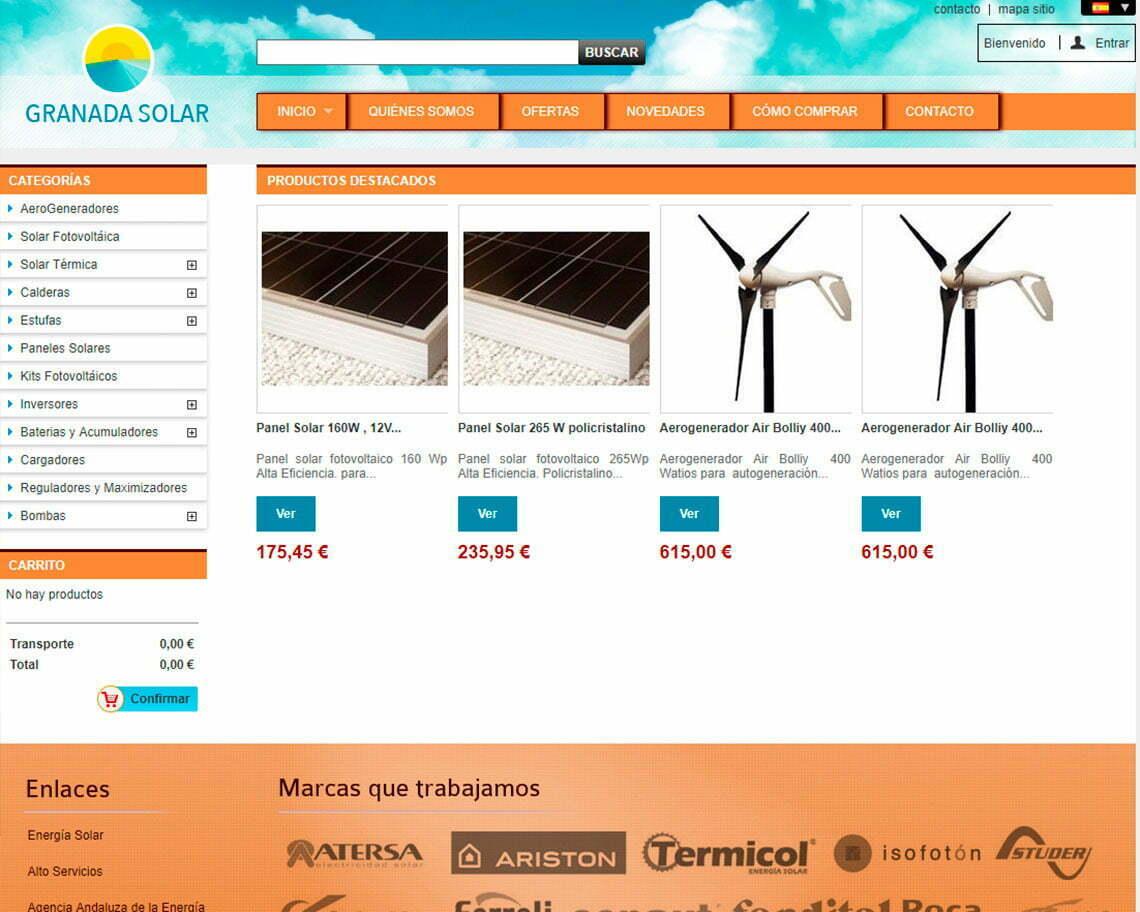 Tienda online Granada Solar