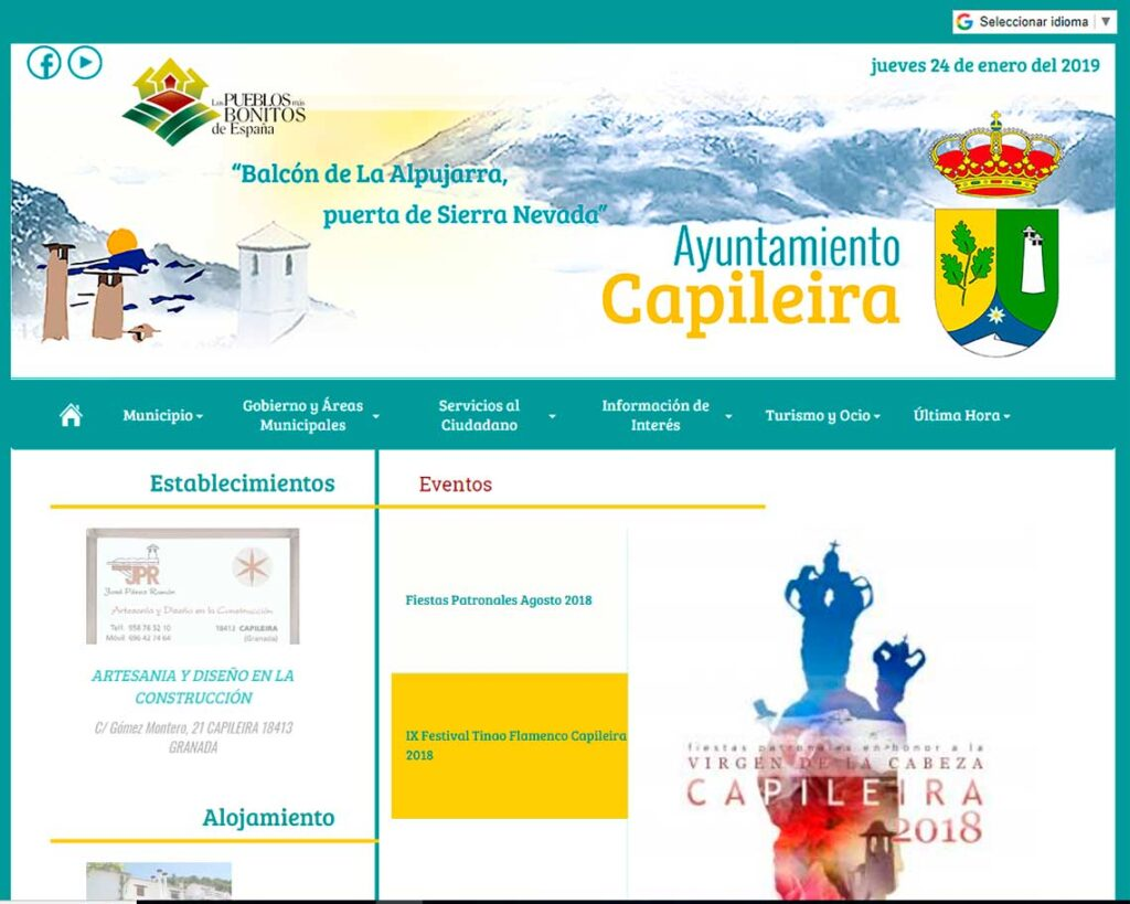 Web Ayuntamiento Capileira